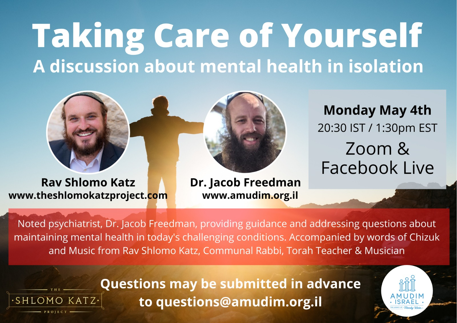 The Rabbi Shlomo Katz Project - Taking Care of Yourself